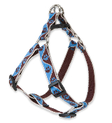 Brown and Blue Paw Pattern Step-in Harness