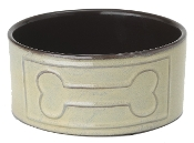 ceramic bone design dog bowls