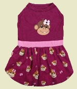 Monkey Print Dog Dress