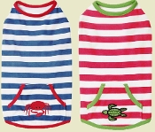 striped dog tank tops