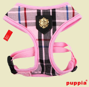 Pink Plaid Dog Harness