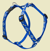 blue argyle roman harness