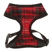 yuletide tartan dog harness
