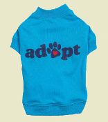 Blue adopt dog tee shirt