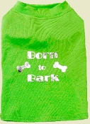 Born To Bark Green Dog Tee