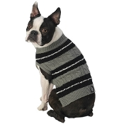 black and gray dog sweater