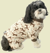 Brown Dog and Bone Design Pajamas