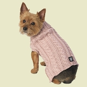 rose pink dog sweater