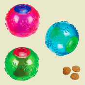 interactive treat dog balls