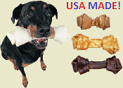 Natural rawhide made in the USA - Ranch Rewards